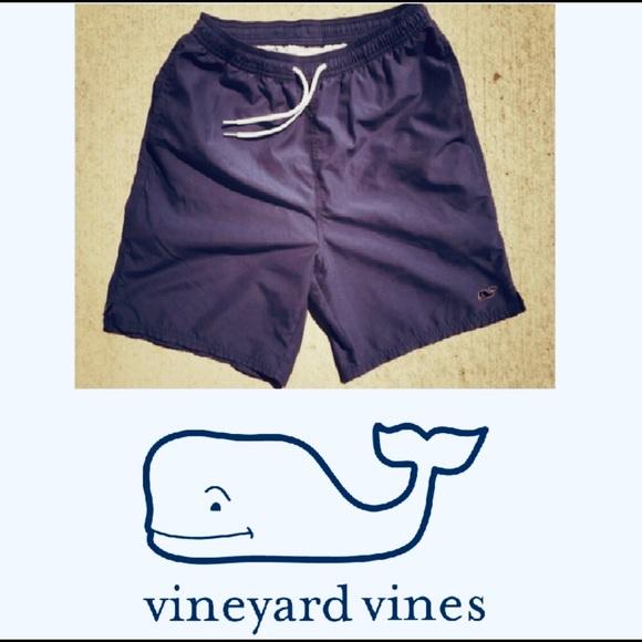 c8dd597183 Vineyard Vines Swim | Solid Navy Mens Trunks Small | Poshmark